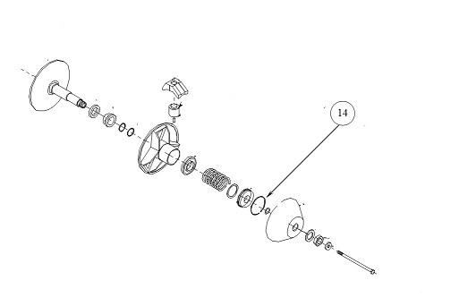 Motor oldali variátor zéger